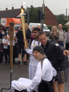 Olympic Torch Relay in Leicester, summer 2012, London Olympics